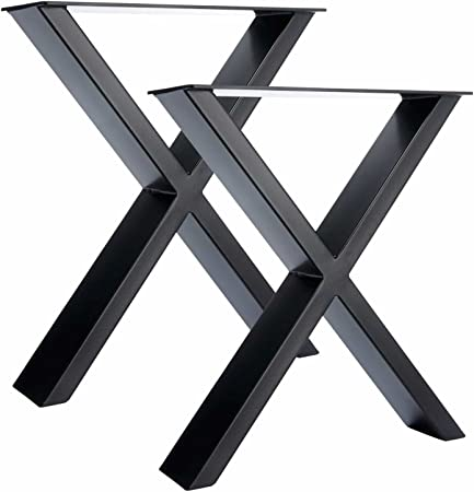 2 X Pieds De Table En Acier X Conception Amazon Fr Bricolage
