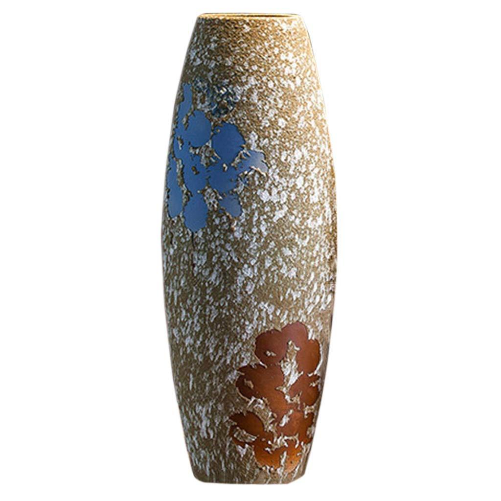 花瓶コンテナセラミックジュエリーギフトホームセラミック床花瓶パーソナリティモデリングセラミック花瓶手作りホリデーギフト装飾 (Color : MULTI, Size : COLORED) B07RS4CMZV MULTI COLORED