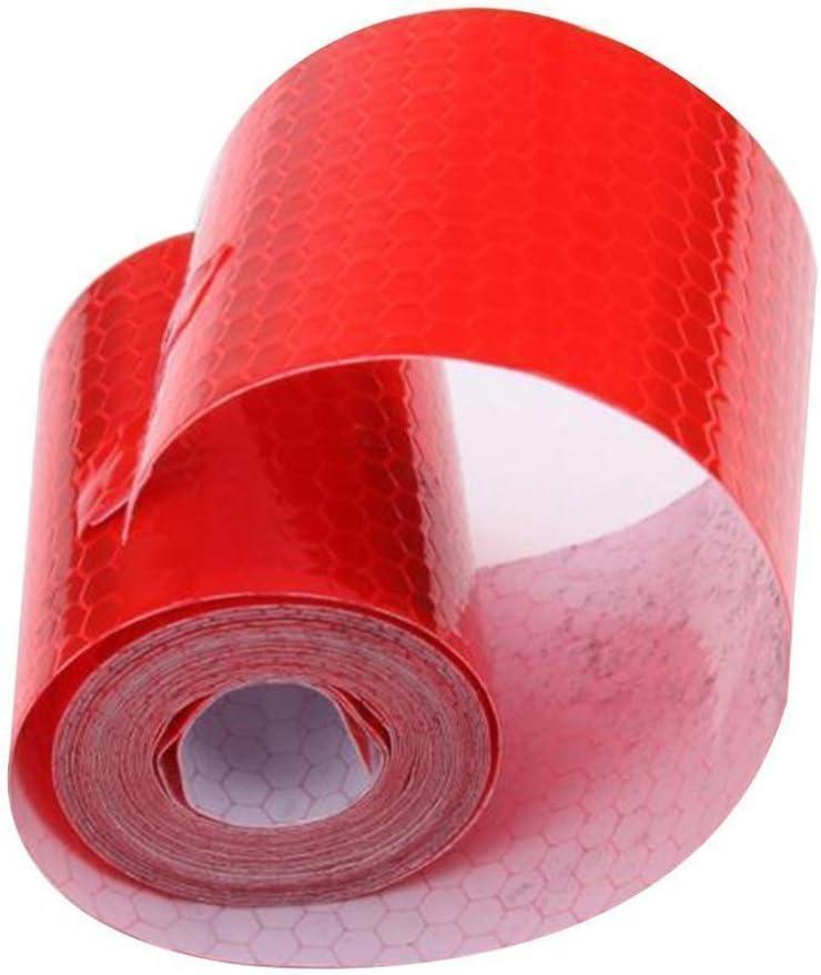 Maiqiken 5/cm x 5/m riflettore nastro rosso ad alta intensit/à di sicurezza marcatura nastro per bicicletta Cars Trucks attenzione tape