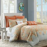 Madison Park MP10-1693 Nisha Comforter Set, King/California King, Orange
