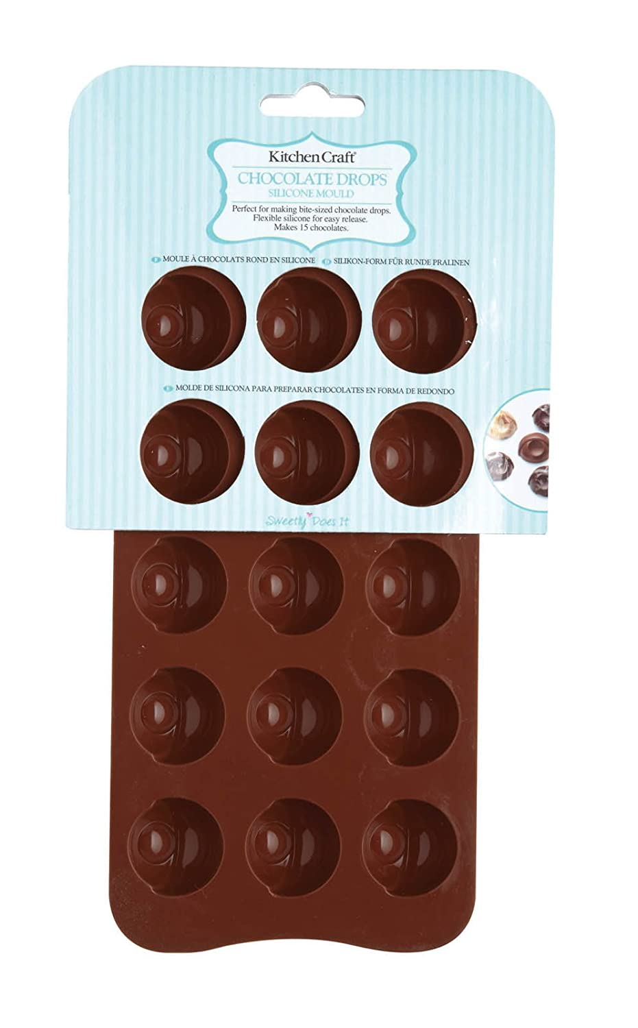 Kitchen Craft Sweetly Does It Chocolate Drops Silicone Mould ...