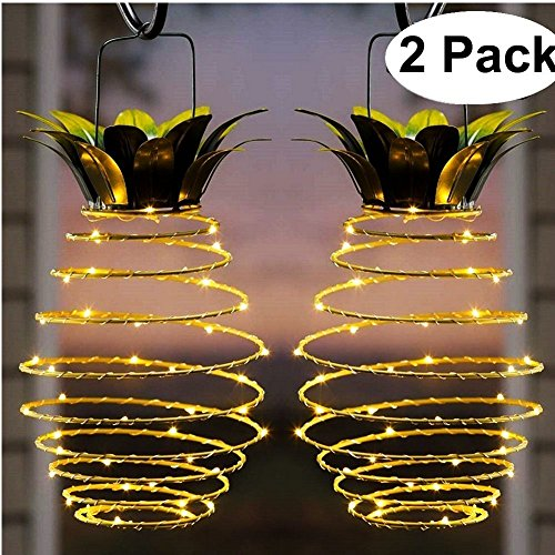 Solar lights/ Pineapple with 25 LEDs set of 2