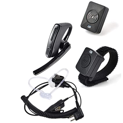 Amazon com: HYS Wireless Bluetooth Walkie Talkie Earpiece