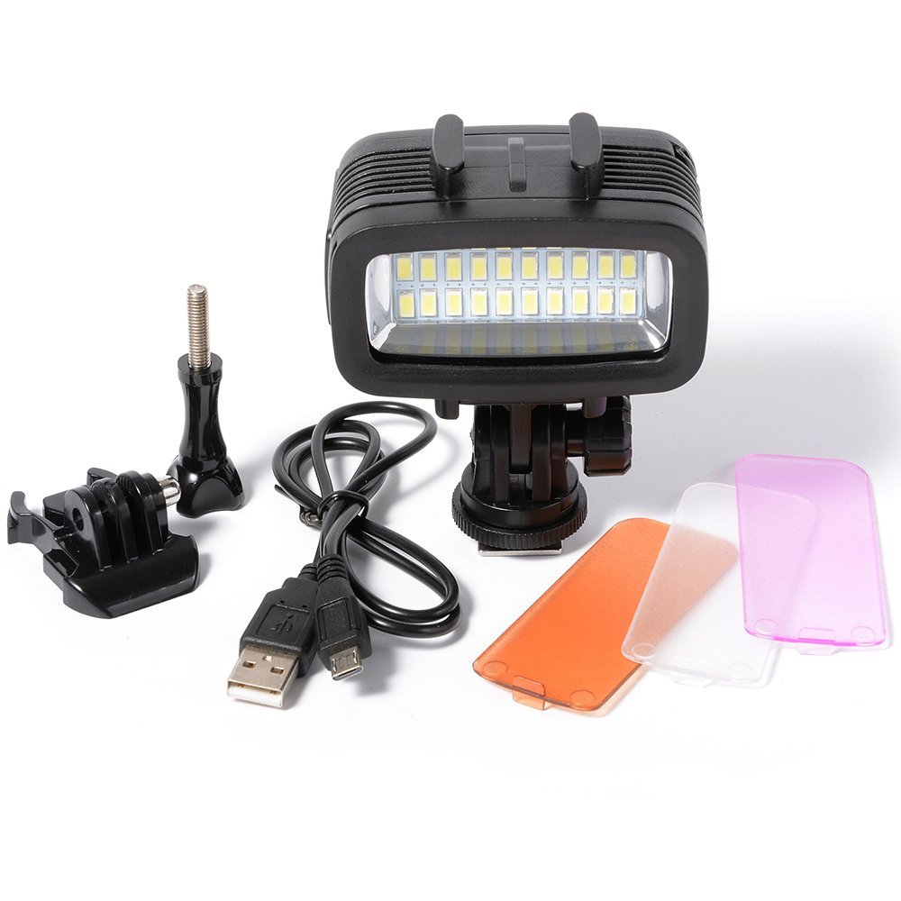 XCSOURCE Underwater 40M Waterproof LED Diving Video Light 20 LEDs 700LM for GoPro Hero 3/4 Sports Cameras DSLR LD729