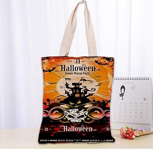 zhangfuhe Hot Halloween Party Canvas Tote Bag Fashion Durable ...