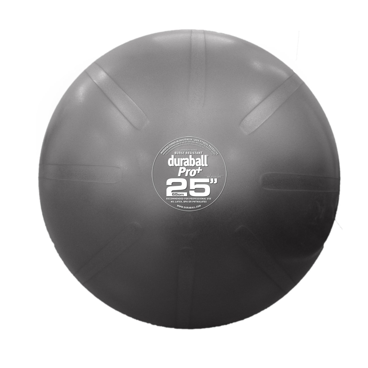 """Fitterfirst Duraball Pro Exercise Ball - 25"""" - Silver by Fitterfirst (Image #1)"""
