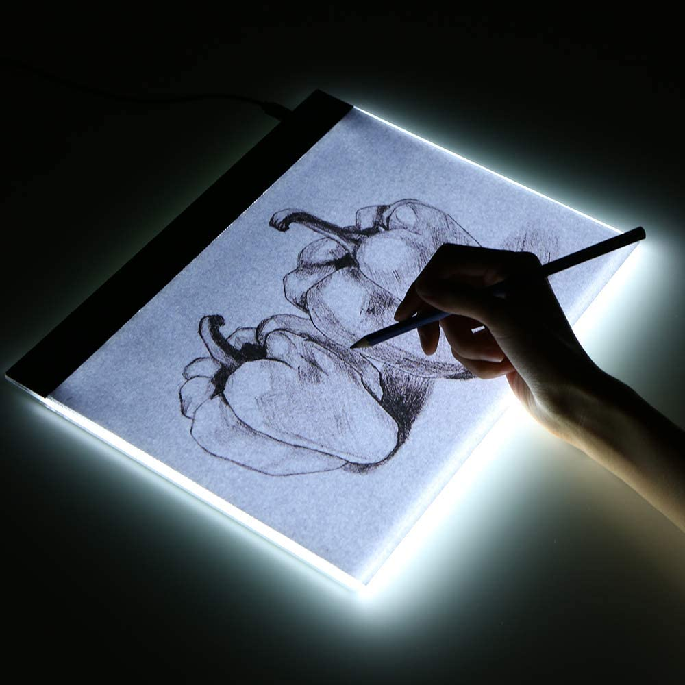 Festnight LED Graphic Tablet Writing Painting A4 Copy Table LED Board Copy Light Box Tracing Board Pads Tracing Board Digital Drawing Tablet