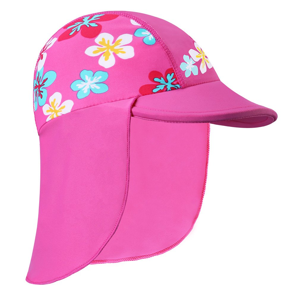 HUANQIUE Baby Toddler Sun Protection Hat UPF 50 + Flap Hat