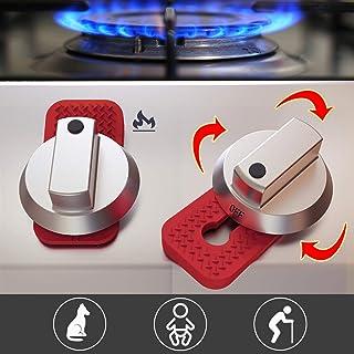 Stove Guard Oven Lock Child Safety Burner Knob Locks Heatproof Anti-Break for Kids Elderly Pet Toddlers Alzheimers Large Universal Design - Baby Proof (Red)