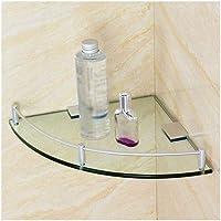 KUNXIAOYU Triangular Templado Grueso Estante de Vidrio Transparente