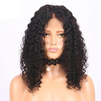 Amazon.com  Curly Long Bob Silk Top Full Lace Wigs for