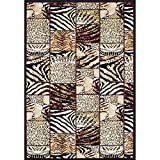 Achim Home Furnishings Ferrera Collection Area Rug, Cheetah, 5.2 Ft. x 7.7 Ft. Review