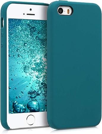 Kwmobile Hülle Kompatibel Mit Apple Iphone Se 1 Gen 2016 5 5s Handyhülle Gummiert Handy Case In Petrol Matt Elektronik