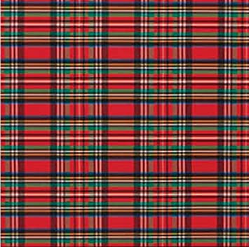 tartan plaid christmas red and green gift wrap roll 24 - Christmas Plaid