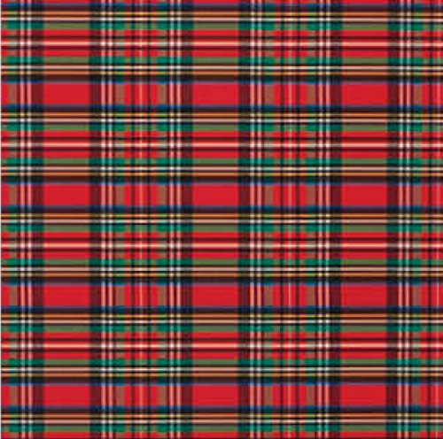 Tartan Plaid Christmas Gift Wrap Flat Sheet 24