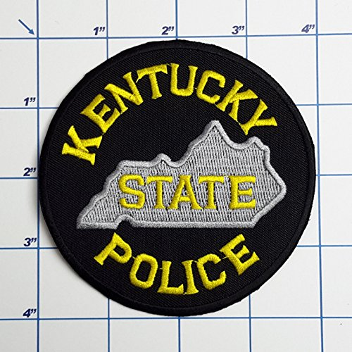 (MINEJ - 1pc US POLICE PATCHES - Full Size Embroidered Iron-On Patch Series, 60+ DESIGNS! # Kentucky State Police)