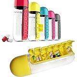 Multi-Function Pill Case Water Bottle Medicine Bottle Organizer