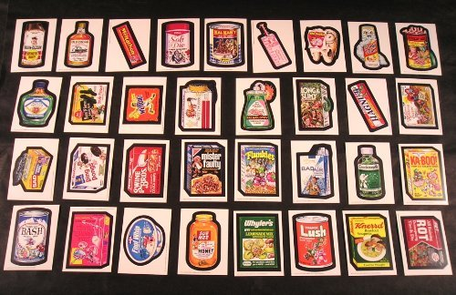 (Wacky Packages Old School Series 2 Set of 33 Stickers with Puzzle)