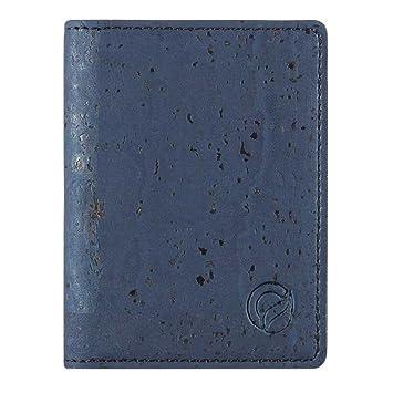 ac61f082d16b0 CORKOR Geldbörse Minimalistische Brieftasche Herren Leichtes Bifold Natur- Leder RFID Schutz Blocker für Kreditkarten Natur