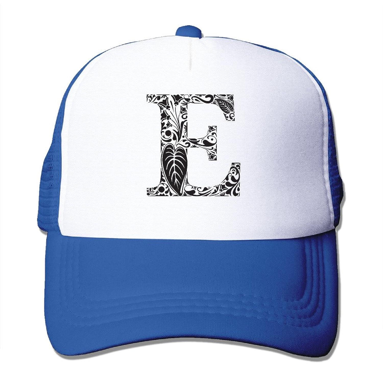 Snapback Alphabet E Fashionable Alphabet E Cap Boys