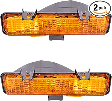 Pair Left /& Right Side Park Light Turn Signals Replacement for 82-93 Chevy S10# 5976643 /& 5976644 DirectAuto