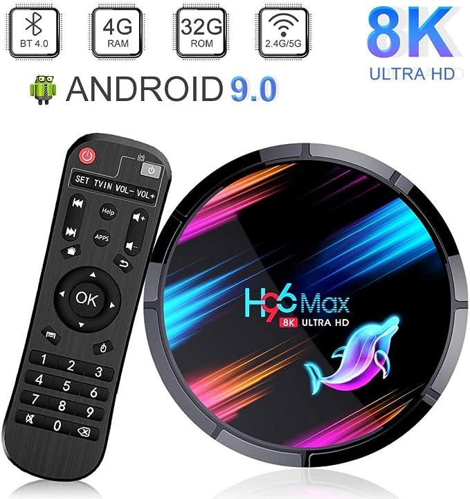 H96 MAX Android 9.0 TV Box con Amlogic S905X3 Quad-Core Cortex-A55 ...