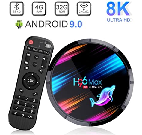 Android TV Box, H96 Max X3 Android 9.0 TV Box 4GB 64GB Amlogic S905X3 Quad Core A55 64-bit CPU 2.4G / 5G WiFi LAN 100 / 1000M BT4.0 H.265 Decode USB3.0 /