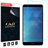 J&D Compatible for 8-Pack Huawei Mate 10 Pro Screen Protector, [Not Full Coverage] Premium Clear Film Shield Screen Protector for Huawei Mate 10 Pro Crystal Clear Screen Protector - [NOT for Mate 10]