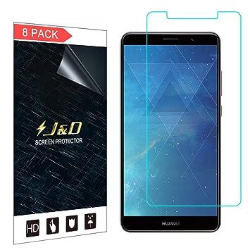 J&D Compatible para 8 Paquetes Huawei Mate 10 Pro Protector de ...
