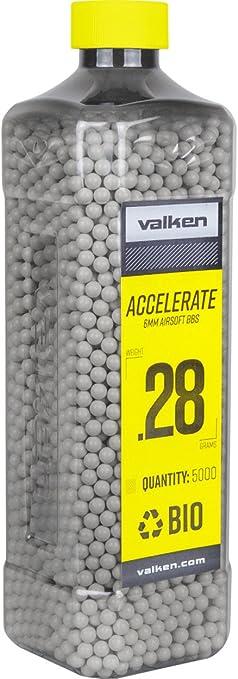 Valken Accelerate Airsoft BBs - 0.28G BIO-WHITE