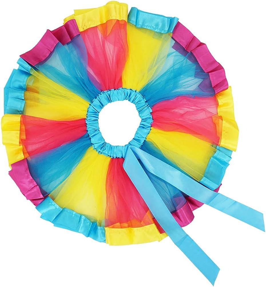 LYLKD Little Girls Unicorn Outfit Dress,Layered Rainbow Tutu Skirt,Unicorn T-Shirt and Unicorn Horn Headband.