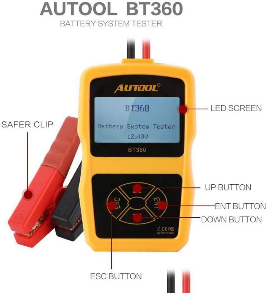 AUTOOL BT360 12V KFZ LCD Digitaler Batterietester Batterie Tester Batterieprüfer