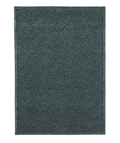 Guardian EcoGuard Diamond Indoor Wiper Floor Mat, Recycled Plactic and Rubber, 3'x4', Charcoal Black