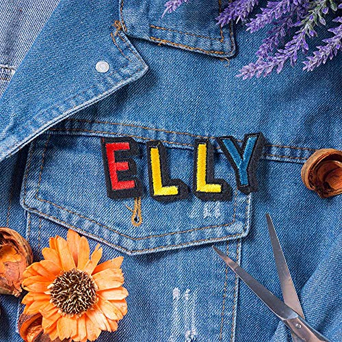 J.CARP 26Pcs Colorful Alphabet A to Z Patches, Iron on Sew on Letters for Clothing, Hats, Shoes, Backpacks, Handbags, Jeans, Jackets etc.