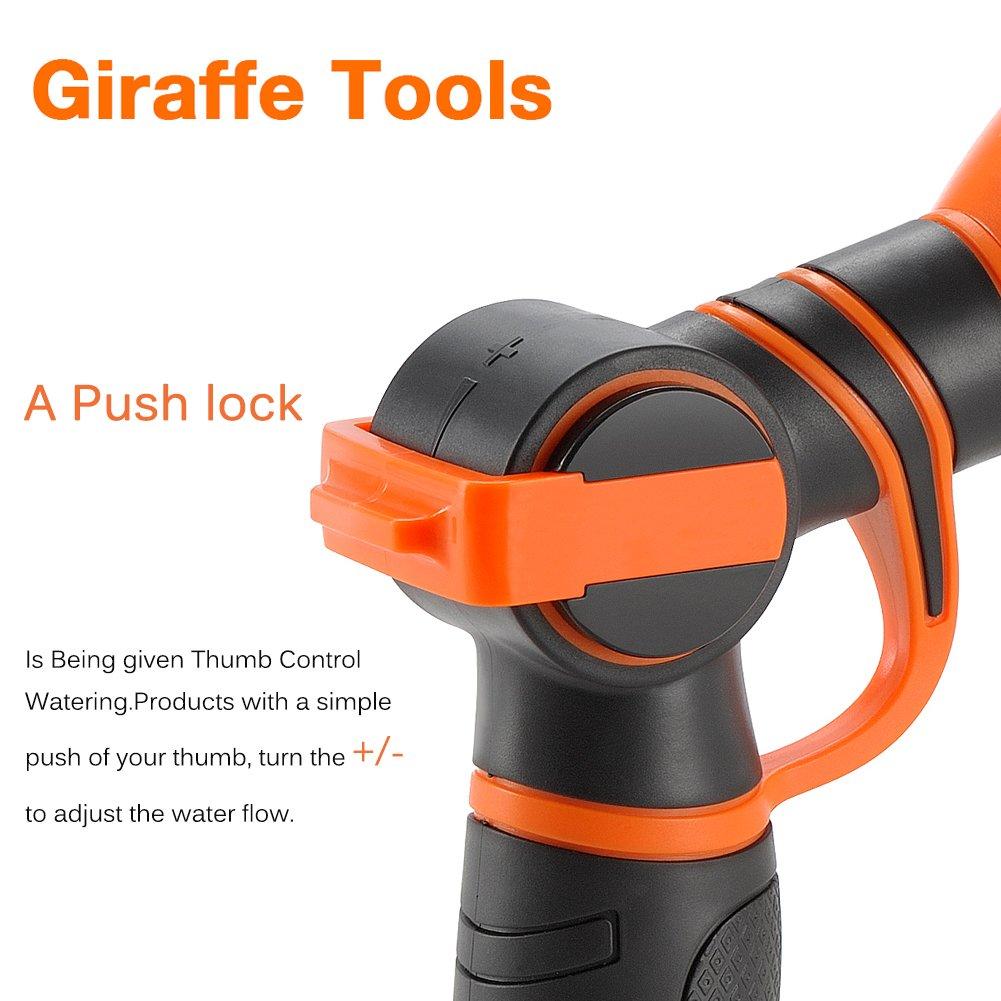 amazon com garden hose nozzle giraffe tools 9 pattern adjustable