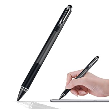 Wrcibo Stylo capacitif Fine, Stylo Écran Tactile Capacitif 1.5mm Dur USB  Rechargeables Tactile capacitif 03aeed4a42e1