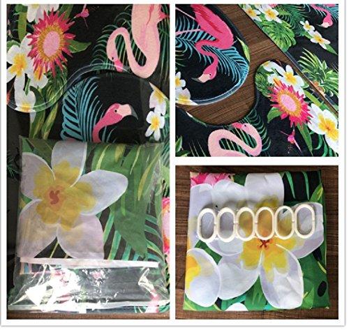 Oyeahbridal Set of 4 Beach Ocean Sea Theme Shower Curtain and Bath Mat Set,Sunflower Art Decor Waterproof Non-slip Bathroom Curtain and Rug Set with Hooks(Multi 29)