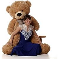 GURUDEV RT Stuffed Teddy Bear Brown 6 ft with Neck Bow 180 cm Heart Shape Cushion