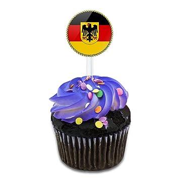 Flagge Von Deutschland Mit Wappen Kuchen Cupcake Topper Picks Set
