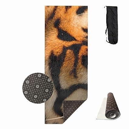 Amazon.com : Shllwe Printed Fierce Tiger Yoga Mat, Prana ...