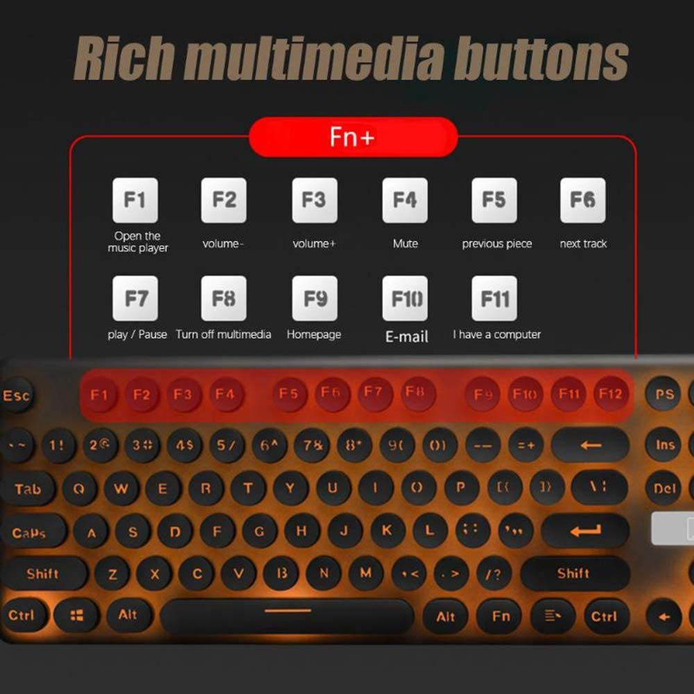 with USB Receiver 14 Multimedia Entertainment Buttons for PC//Laptop,Blue 2.4G Wireless Keyboard and Mouse QOUP Wireless Keyboard and Mouse Set