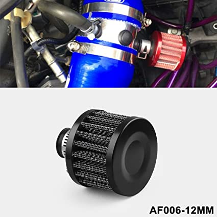 Amazon.com: Ryanstar 12mm Air Filter Cold Air Intake Filter Breather Turbo Vent Universal Air Intake Filter Cleaner Black: Automotive