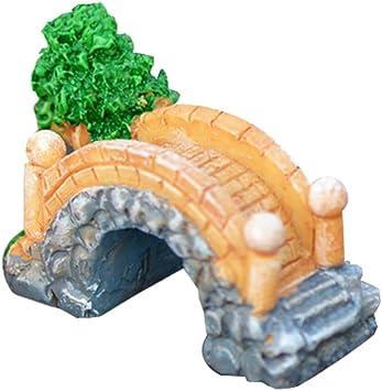 Vi.yo Resina Piedra Puente Figuritas Mini Artesanía Hada para Jardín Miniaturas DIY Terrario Suculentas Micro Paisaje Decoración: Amazon.es: Juguetes y juegos