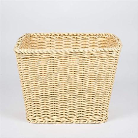 Wagsiyi Cesta Sucia Cesta de Toalla de Mimbre, cesto de baño, cestas de Almacenamiento