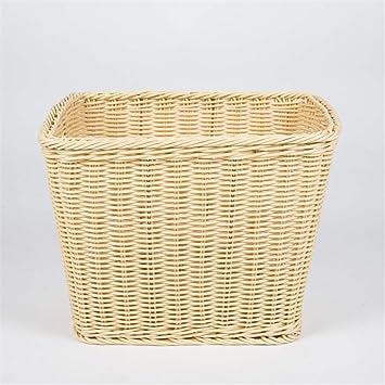 GSCshoe Cesta de Toalla de Mimbre, cesto de baño, cestas de Almacenamiento de Cocina de Almacenamiento en el hogar: Amazon.es: Hogar