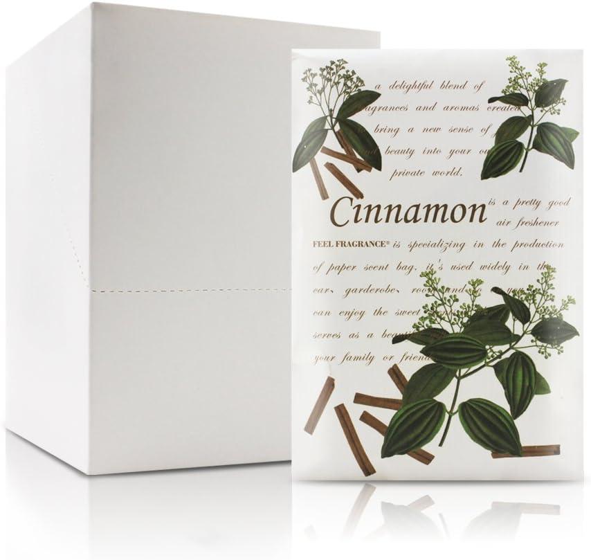 Feel Fragrance Scented Sachet for Drawer and Closet Sachets, Lot of 12 (Cinnamon)