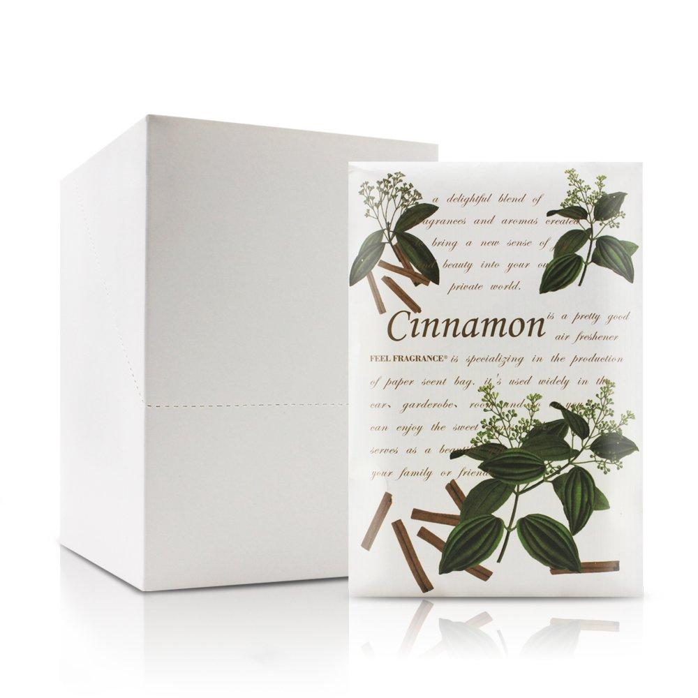Feel フレグランスの香り付きサシェ 引き出しやクローゼットのサシェに 12個入り シナモン B07DLW5FSP