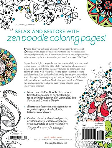 Amazon Zen Doodle Coloring Book Relax And Relieve Stress With Adult Pages 0035313664656 Kristy Conlin Books