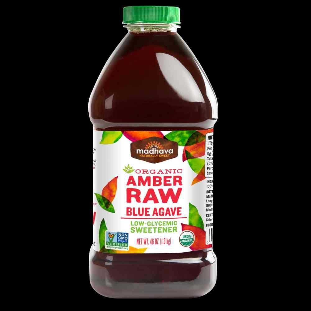 Madhava Amber Raw Agave, 46 Ounce -- 4 per case.
