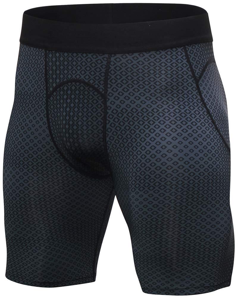 Shengwan Pantaloncini a Compressione Uomo Stampa 3D Fitness Pantaloni Corta Asciugatura Veloce Corsa Sportivo Corta Leggings